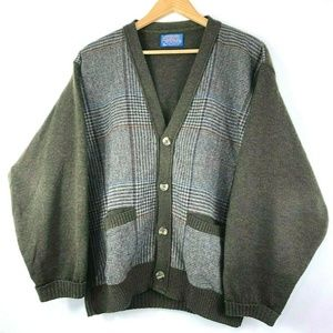Mens Vintage PENDLETON Wool Cardigan Sweater
